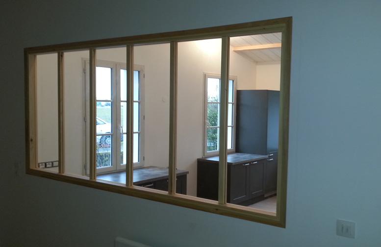 Chassis atelier bois 2 for Fenetre style loft